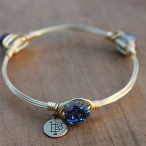 "Bourbon & Bowties ""Purple Druzy Stone"" Bangle"